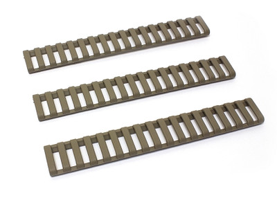 ERGO 18-SLOT LOWPRO LADDER RAIL COVER - DARK EARTH - 3 PACK