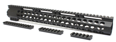 "Davidson Defense Pentagon 15"" Super Slim Ultra Lite Keymod Handguard W/ Steel Barrel Nut"