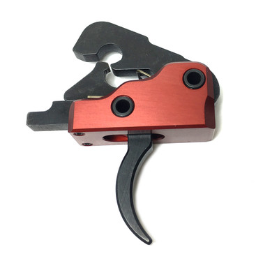 Ar-15 M4 3.0 lb Drop In Ultra Match Trigger System Crimson Red Finish
