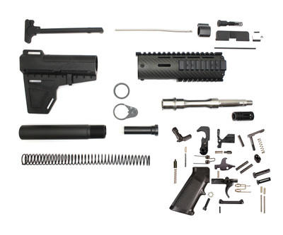 "Davidson Defense  AR-15 Pistol Kit 7.5"" .223 Stainless Steel Barrel 1:7  7"" Carbon Fiber Handguard  KAK Blade  LPK (Minus BCG & Lower & Upper Receivers )"