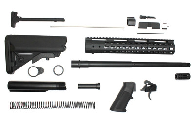 "Davidson Defense Complete AR-15 Kit Minus BCG & Lower & Upper Receivers  3.5 lb Ultra Match Drop In Trigger 7.62 16"" Nitride Barrel 1:10 Twist 12"" Keymod Handguard With Buttstock"