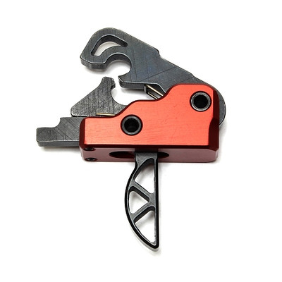 Ar-15/M4 2.5 lb Drop In Ultra Match Skeletonized Performance Trigger System - Crimson Red