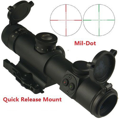 Omega Mfg Premium 4x21AO BDC Scope with Red and Green Illumination