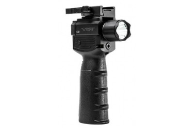 VISM Vertical Grip w/Strobe Flashlight/ Red Laser VAQVGFLRV2