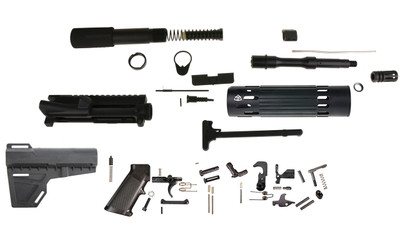 "Davidson Defense DIY 5.56 Ar15  7.5"" Pistol Builder Kit, Everything but the Lower and BCG!  V3"