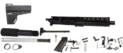 Davidson Defense 9mm 7.5 Inch Assembled Pistol Kit, Everything But the Lower Receiver and BCG!