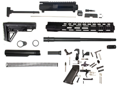 "Davidson Defense Complete AR-15 Kit 7.62x39 16"" Nitride Barrel 1:10  15"" Free Floating Handguard Alpha Combat  Mil-Spec Stock Lower Parts Kit (Minus BCG)"