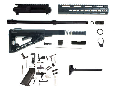 "Davidson Defense ""Jolly Roger"" Complete AR-15 Rifle Kit W/ Rodgers Stock 10"" Keymod Handguard 16"" 5.56 Nato 1:7 Nitride Barrel"