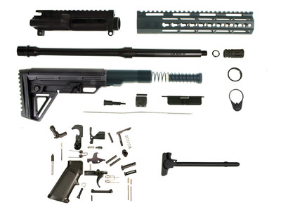 "Davidson Defense ""Alpha Wolf"" Complete AR-15 Rifle Kit W/ Alpha Stock 10"" Keymod Handguard 16"" 5.56 Nato 1:7 Nitride Barrel"