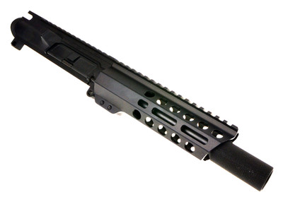 "Davidson Defense 9mm AR-15 Assembled Pistol Upper W/ 1-10 Twist QPQ Nitride Finish  7"" M-Lok Handguard & Sound Forwarder"