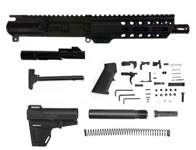 "Aero Precision 9mm AR-15 Complete Pistol Kit 7.5"" Nitride Barrel 7"" M-Lok Handguard Comes With Bolt Carrier Group BCG !!"
