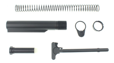 AR-15 Mil Spec Buffer Tube Kit With FREE Charging Handle