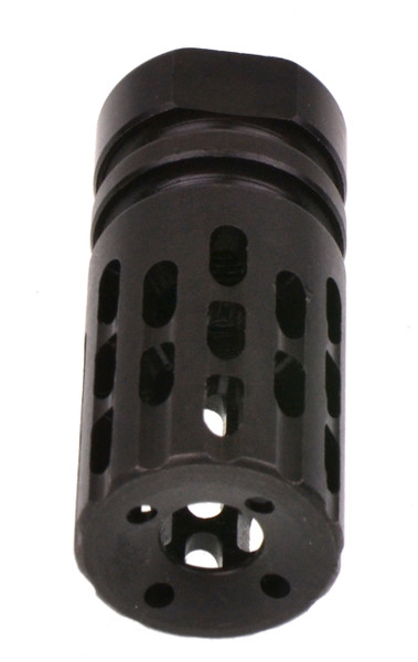 "Recoil Technologies Extreme Comp & Flash Hider 13-Ported Helical Muzzle Brake Black 5/8""x24 (.308)"