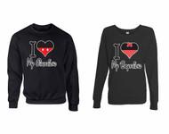 I love My Girlfriend I love My boyfriend couples gifts 1 Sweatshirt & 1 Long Sleeve