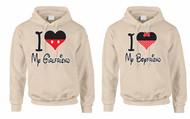I love My Girlfriend I love My boyfriend couples gifts Hooded Sweatshirt