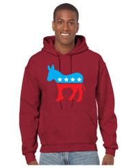 Democratic Donkey men Hooded Sweatshirt