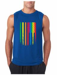 COLOR USA FLAG GYM Adult Sleeveless T Shirt