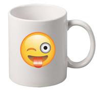 EMOJI Playful wink coffee tea mugs gift