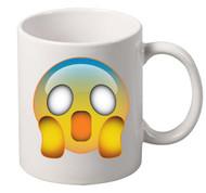 EMOJI Frightened coffee tea mugs gift