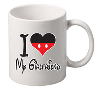 i love my girlfriend coffee tea mugs gift