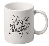 Stay Beautiful coffee tea mugs gift