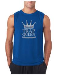 Marijuana Cannabis Trap Queen GYM Adult Sleeveless T Shirt