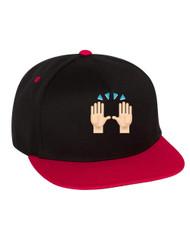 Emoji Celebration Hands Flat Bill Cap gift