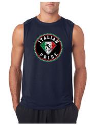 ITALIAN PRIDE GYM Adult Sleeve less T Shirt