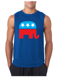 Republican Party Elephant GYM Adult Sleeve less T Shirt