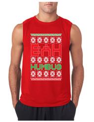 Bah Humbug Christmas GYM Adult Sleeve less T Shirt