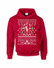 HO HO HO Christmas Stripper Women Hooded Sweatshirt