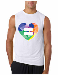 Equal Heart PRIDE GYM Adult Sleeve less T Shirt