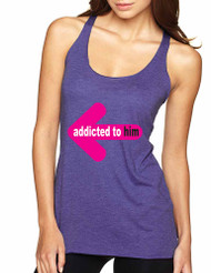 Addicted to him women Triblend Racerback Tank top valentines day gift