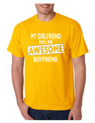My Girlfriend has an awesome boyfriend Mens T shirt valentine gift