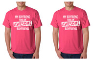My boyfriend has an aesome boyfriend, Gays couples T shirts valentine gift