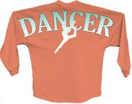 Dancer Blue pom print J america women Long sleeve shirt