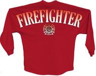 Firefighter pom print J america women Long sleeve shirt
