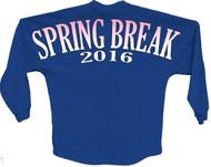 Spring break 2016 pink pom print J america women Long sleeve shirt