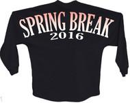 Spring break 2016 orange pom print J america women Long sleeve shirt