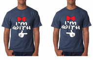 I'm With him, Gays, Lesbians, couples Tshirts mickey hands