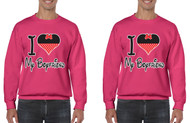 love my boyfriend, Gays, Lesbians, couples Sweatshirts