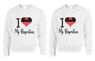 love my Girlfriend, Gays, Lesbians, couples Sweatshirts