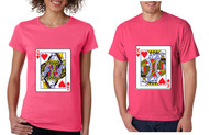 King and Queen Cards couples Tshirts valentine day Gift