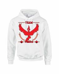 Adult Hoodie Sweatshirt Team Valor Red Team Top