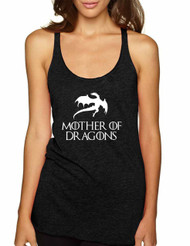 Women's Tank Top Mother Of Dragons White Print Cool Top