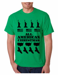 Men's T Shirt Merry American Christmas Ugly Sweater Love USA