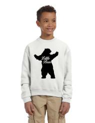 Kids Youth Crewneck Little Bear Family Shirt Xmas Cute Gift