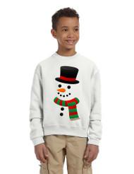 Kids Crewneck Snowman Ugly Christmas Cool Xmas Gift Top