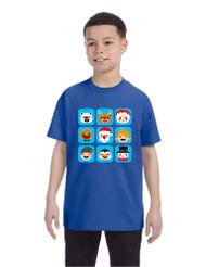 Kids T Shirt Christmas Icons Ugly Holiday Symbols T-Shirt
