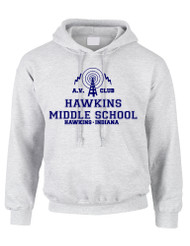 Adult Hoodie AV Club Hawkins Middle School Sweatshirt